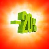 Sinal de 20 por cento Fotografia de Stock