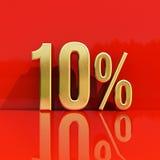 Sinal de 10 por cento Imagens de Stock
