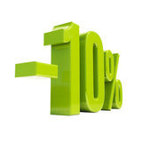Sinal de 10 por cento Foto de Stock