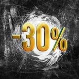 Sinal de 30 por cento Imagens de Stock Royalty Free