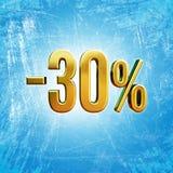 Sinal de 30 por cento Imagem de Stock Royalty Free