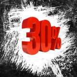 Sinal de 30 por cento Imagem de Stock