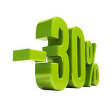 Sinal de 30 por cento Fotografia de Stock