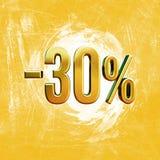 Sinal de 30 por cento Fotos de Stock