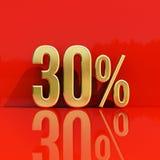 Sinal de 30 por cento Imagens de Stock