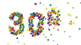 Sinal de 30 por cento colorido vibrante para anunciar ilustração do vetor