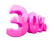Sinal de por cento cor-de-rosa isolado Fotografia de Stock Royalty Free