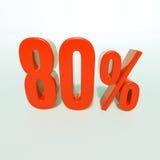 Sinal de por cento vermelho Fotografia de Stock