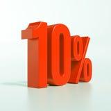 Sinal de por cento vermelho Foto de Stock Royalty Free