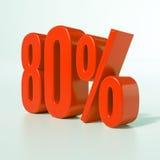 Sinal de por cento vermelho Fotos de Stock