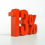 Sinal de por cento vermelho Imagens de Stock