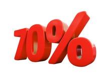 Sinal de por cento vermelho isolado Foto de Stock Royalty Free