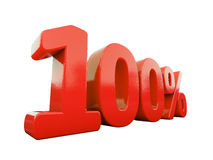 Sinal de por cento vermelho isolado Imagens de Stock Royalty Free