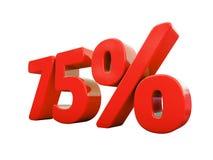 Sinal de por cento vermelho isolado Fotografia de Stock Royalty Free