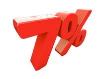 Sinal de por cento vermelho isolado Imagem de Stock Royalty Free