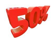 Sinal de 50 por cento vermelho isolado Imagem de Stock Royalty Free