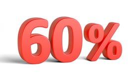 Sinal de por cento vermelho no fundo branco Foto de Stock