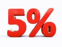 Sinal de por cento vermelho retro Imagens de Stock Royalty Free