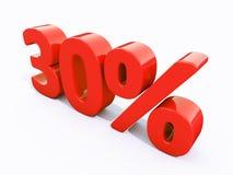 Sinal de por cento vermelho retro Foto de Stock