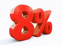 Sinal de por cento vermelho retro Imagens de Stock