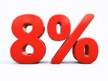 Sinal de por cento vermelho retro Fotos de Stock