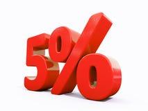 Sinal de por cento vermelho retro Foto de Stock Royalty Free