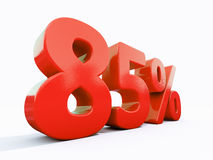 Sinal de por cento vermelho retro Fotografia de Stock