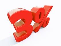 Sinal de por cento vermelho retro Fotos de Stock Royalty Free