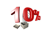 Sinal de porcentagem Fotos de Stock Royalty Free