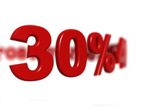 Sinal de porcentagem Foto de Stock