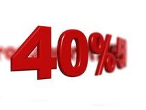 Sinal de porcentagem Fotografia de Stock