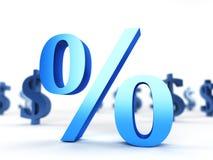 Sinal de porcentagem Imagem de Stock
