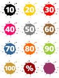 Sinal de porcentagem colorido Imagem de Stock