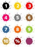 Sinal de porcentagem colorido Fotos de Stock