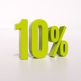Sinal de porcentagem, 10 por cento Fotos de Stock Royalty Free