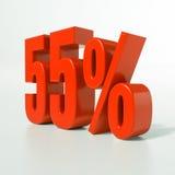 Sinal de porcentagem, 55 por cento Imagens de Stock