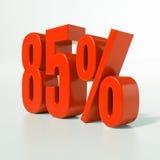 Sinal de porcentagem, 85 por cento Imagens de Stock