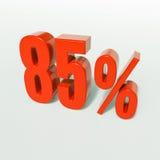 Sinal de porcentagem, 85 por cento Fotografia de Stock Royalty Free