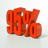 Sinal de porcentagem, 95 por cento Imagens de Stock Royalty Free