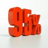 Sinal de porcentagem, 95 por cento Imagem de Stock Royalty Free