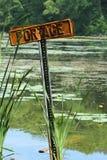 Sinal de Portage Imagem de Stock
