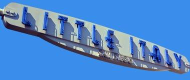 Sinal de pouco Itália San Diego mim Fotografia de Stock