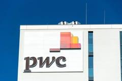 Sinal de PwC foto de stock royalty free
