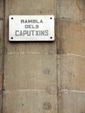Sinal de Rambla Imagens de Stock Royalty Free