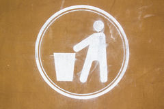 Sinal de recicl sujo Imagens de Stock