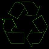 Sinal de recicl verde   Imagem de Stock Royalty Free