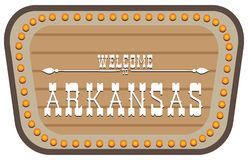 Sinal de rua Arkansas do vintage Imagem de Stock