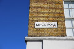 Sinal de rua da Estrada do rei Imagem de Stock Royalty Free