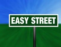 Sinal de rua da rua fácil Imagem de Stock Royalty Free