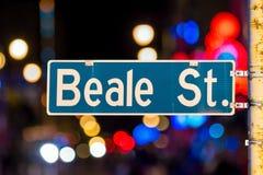 Sinal de rua de Beale imagem de stock